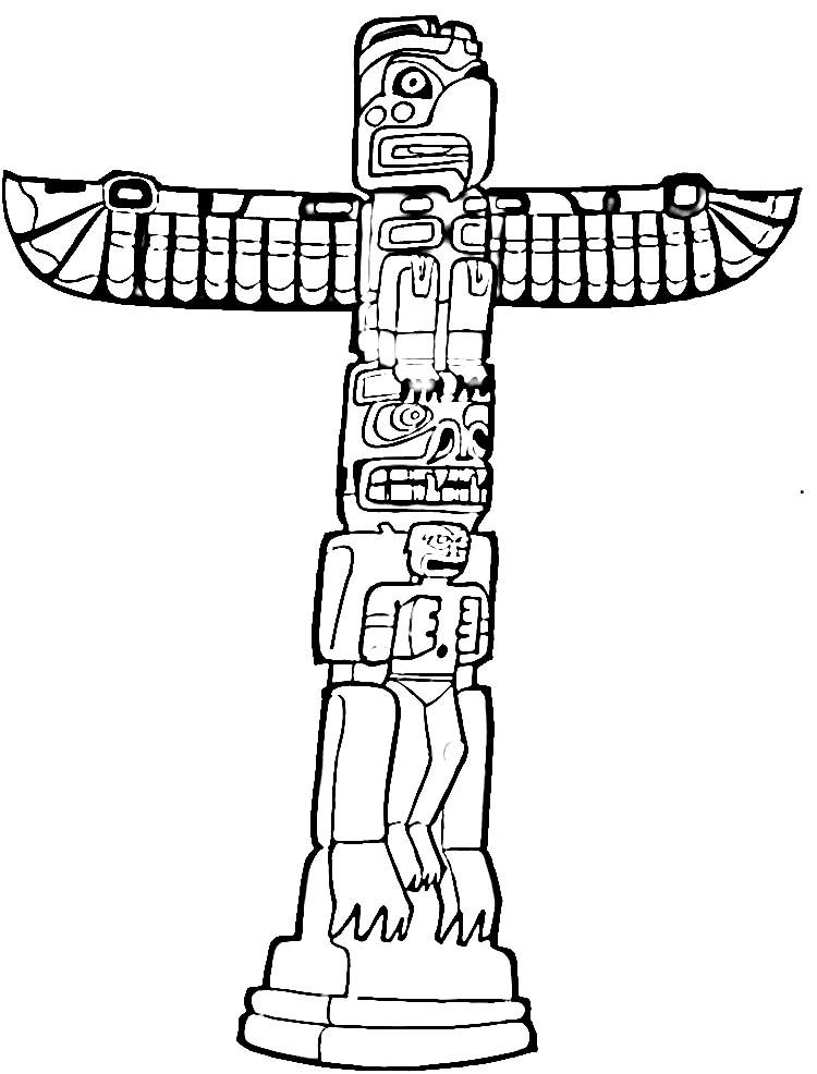 Free Printable Totem Pole Coloring