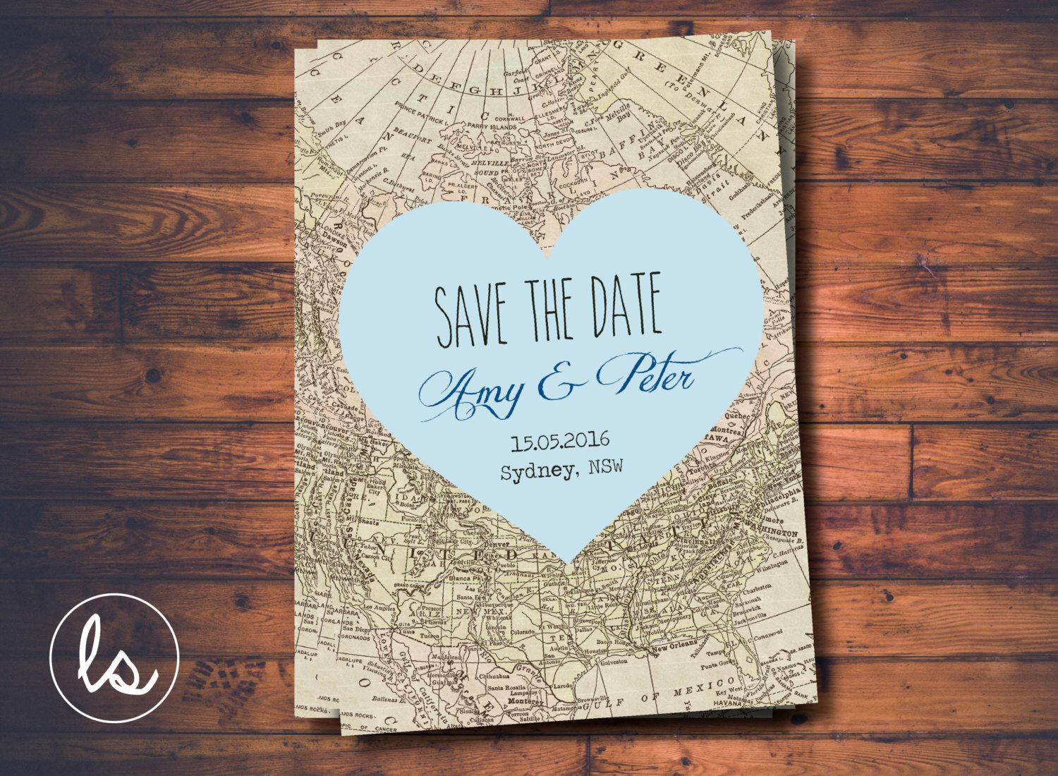 wedding invitation printing malaysia%0A printing out maps for wedding invitations Blue Heart Save the Date Map  Invitation DIY PRINTABLE Professional