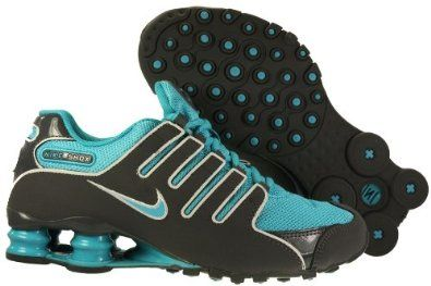 d5b147d30fb6 Amazon.com  Womens Nike Shox NZ Running Shoes Dark Grey   Turquoise Blue    Pure Platinum 314561-040  Shoes