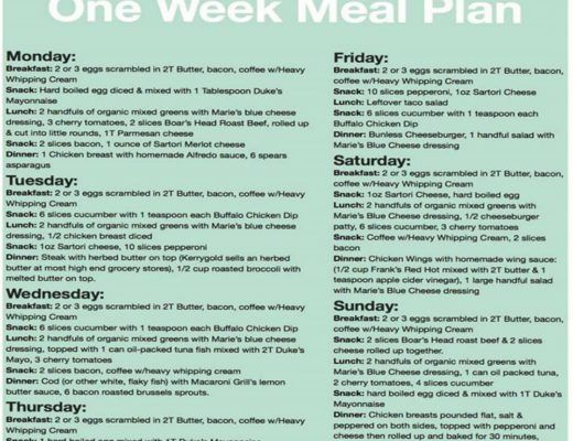 One week weight loss meal prep