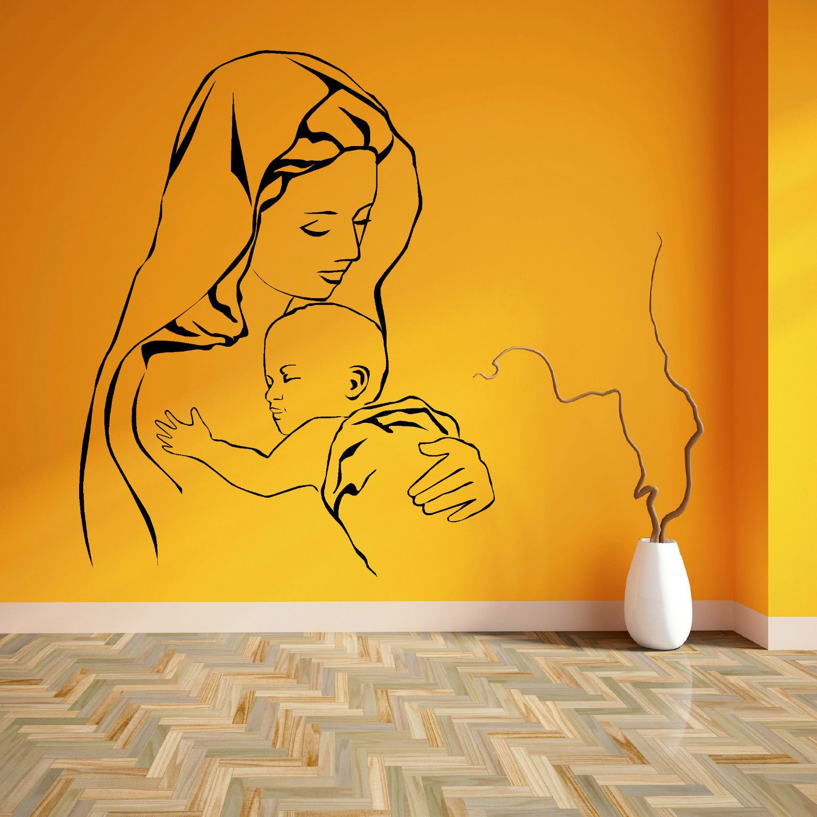 VIRGIN MARY AND JESUS MOTHER BABY MADONNA CHILD Vinyl wall art ...