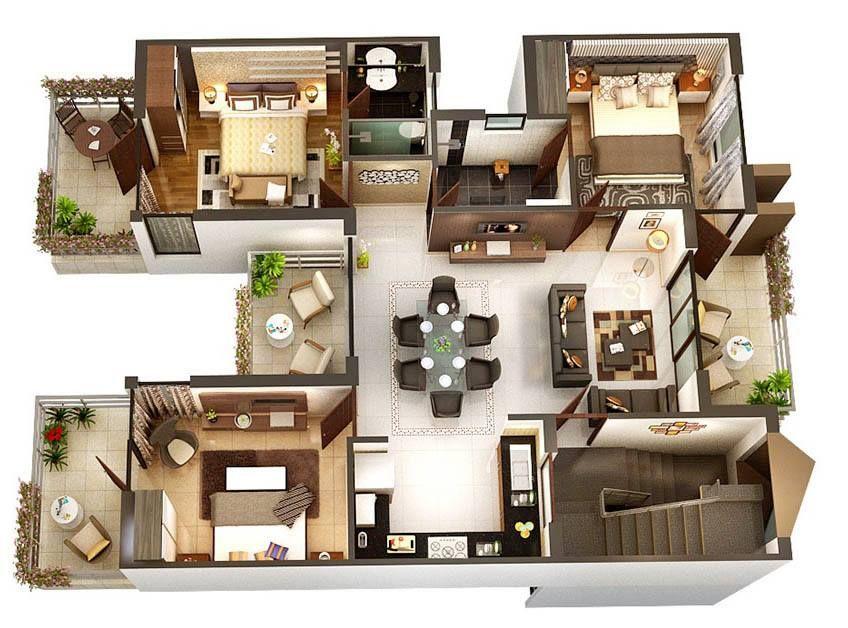 8 modern 3d floor plans 7 8