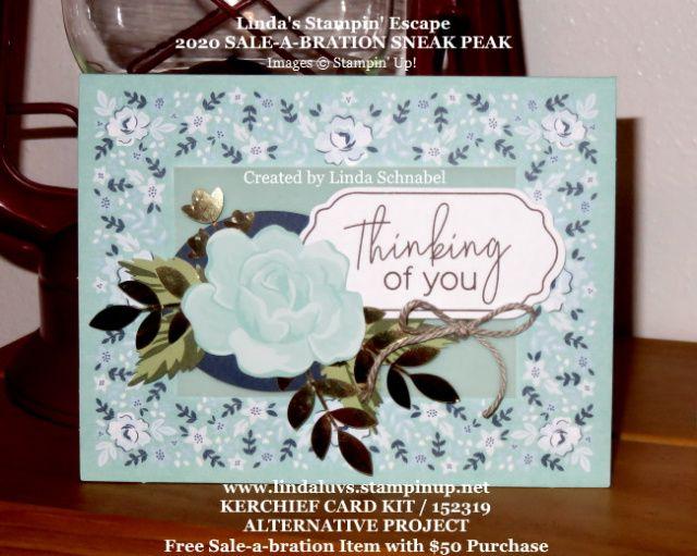 Sale-a-bration 2020 Kerchief Card Kit Alternative #cardkit
