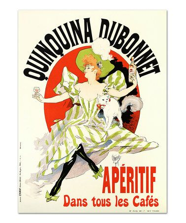 Another great find on #zulily! Jules Cheret Quinquina Dubonnet Lithograph #zulilyfinds