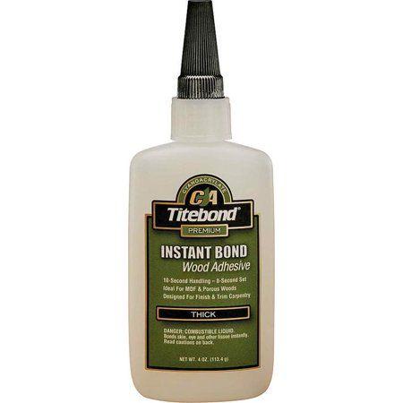 Titebond 6222 4 Oz Clear Titebond Thick Instant Bond Wood Adhesive Adhesive Wood Shear Strength
