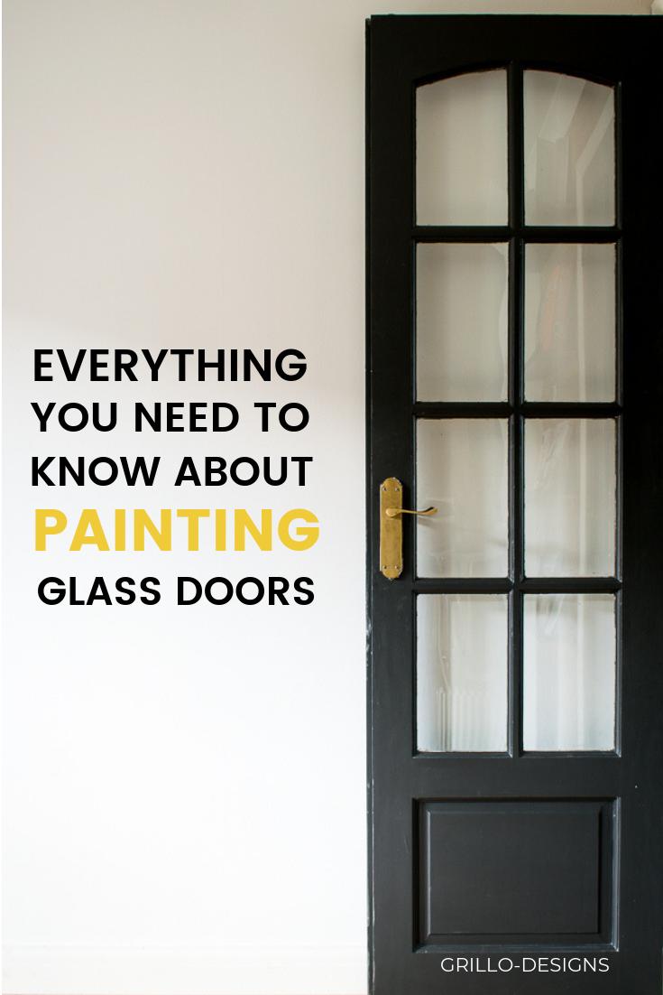 How To Paint Glass Panel Doors Like A Pro Grillo Designs Glass Panel Door Glass Doors Interior Glass Door