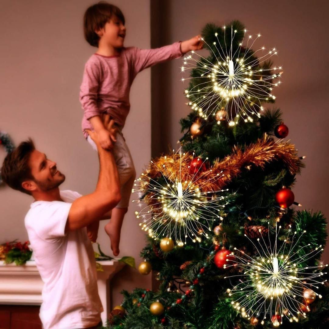 8 Modes Remote Christmas Xmas Decor Hanging Firework LED Fairy String Light Best