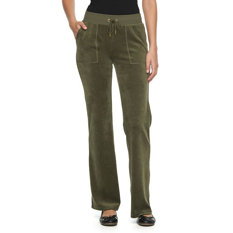 Women's Juicy Couture Solid Bootcut Velour Pants,