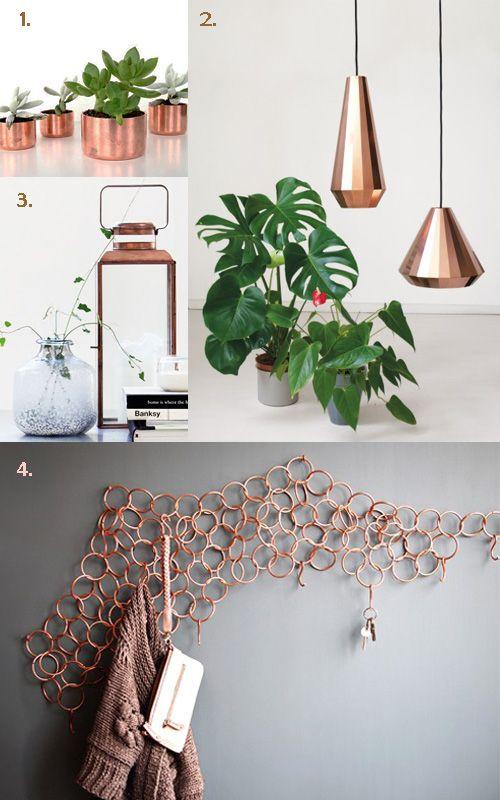 Accesorios de cobre de estilo n rdico copper accessories - Accesorios para decoracion de interiores ...
