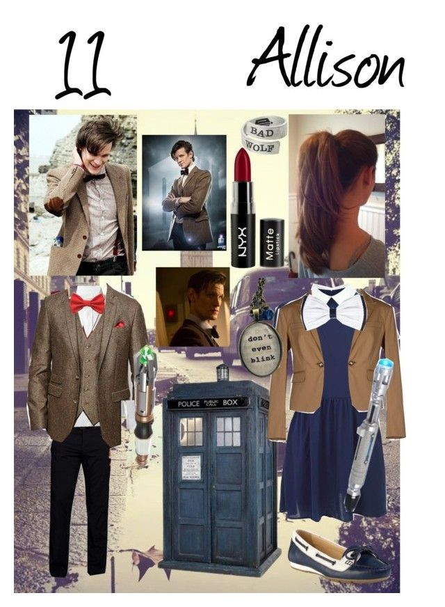 """""""Meeting Taylor and touring London ~11 Fixing the TARDIS ~Allison"""" by doctor-who-anons ❤ liked on Polyvore featuring Cole Haan, Bonobos, Maison Margiela, Topman, ASOS, NYX, Dsquared2 and Blink"""