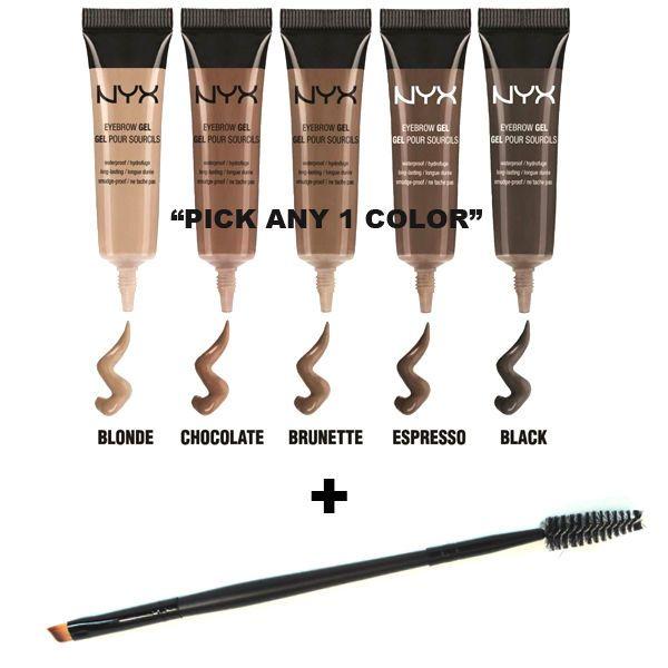 nyx makeup eyebrows. nyx waterproof eyebrow gel and angled brow spoolie brush set \ nyx makeup eyebrows u