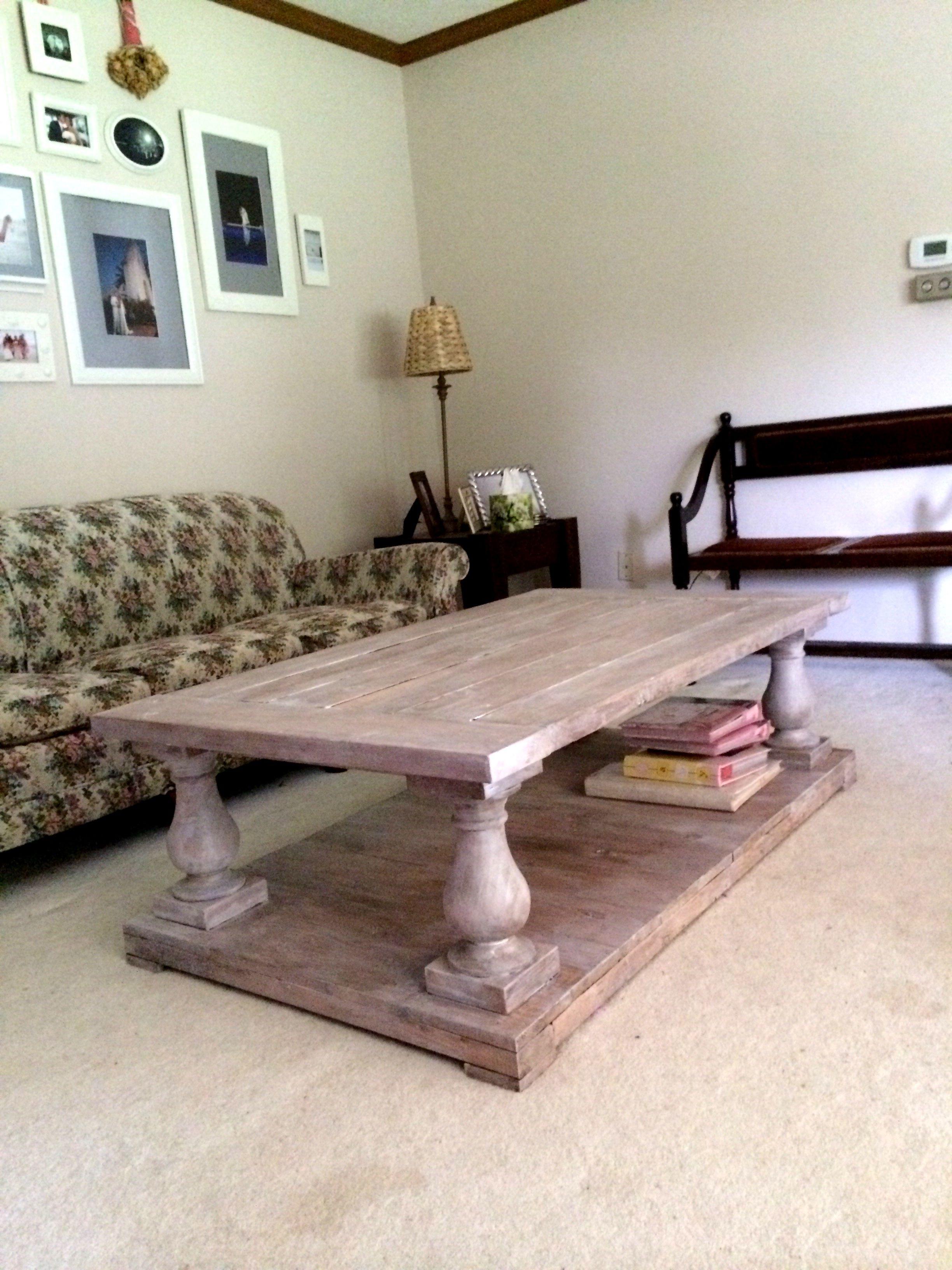 balustrade coffee table diy