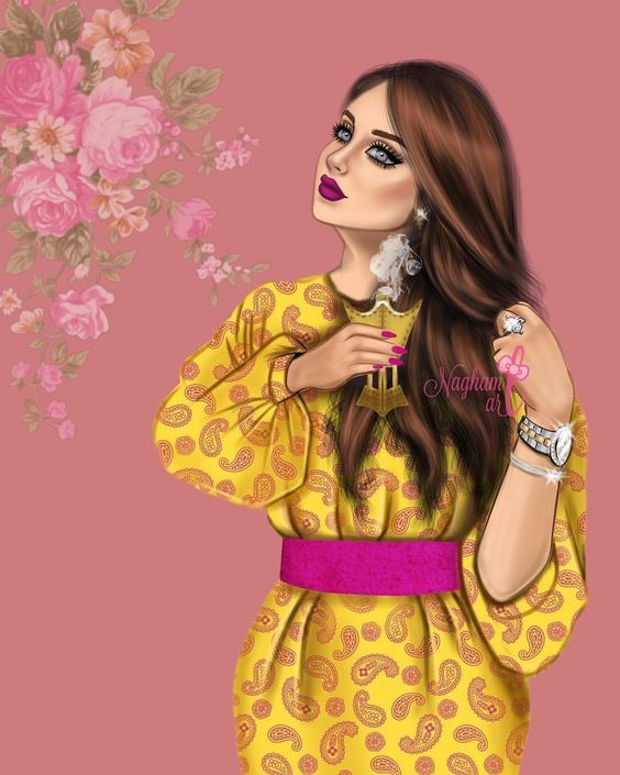Pin By ام العنود On Art Beautiful Girl Drawing Girly Pictures Lovely Girl Image