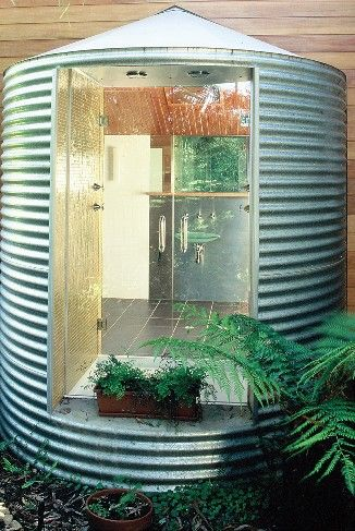 Convert a rain tank into a bathroom clever recycle - Convert swimming pool to rainwater tank ...