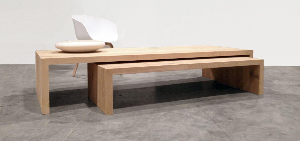 Eenvoud ten top massieve eiken tafel met dichte wangen een universeel product van - Wat op een salontafel ...