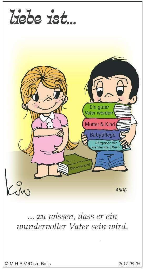 Cartoon liebe ist Liebe ist