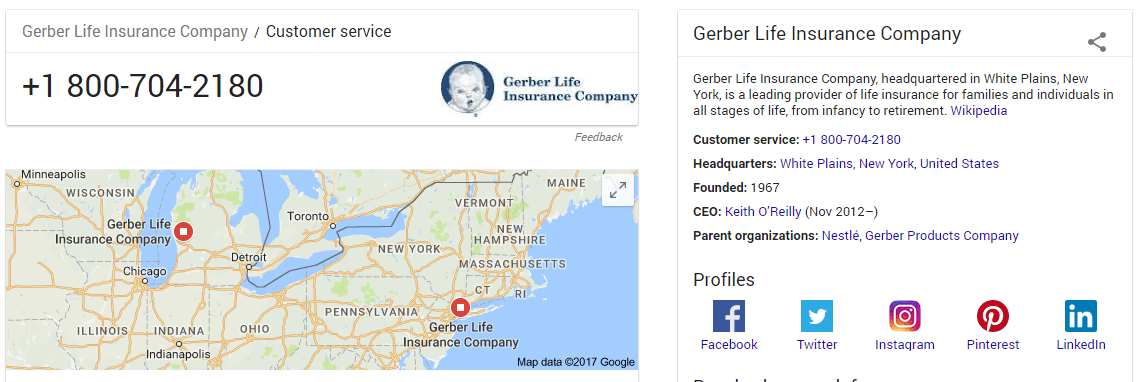 Gerber Life Insurance Telephone Number Gerber