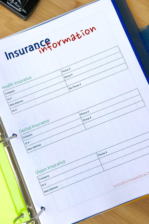 Medical Binder Printables Medical Binder Medical Binder