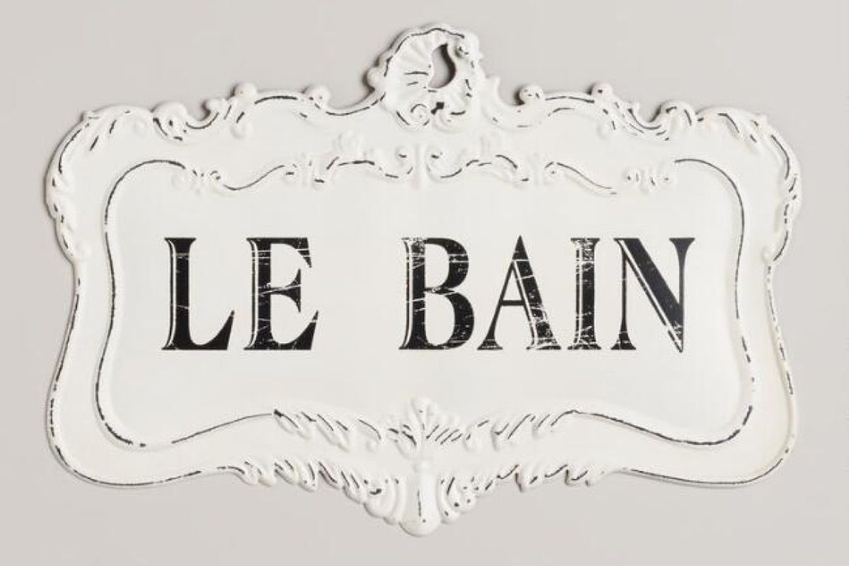 "Classy French  Le Bain  Bathroom Decor is part of French decor On A Budget - Ever get tired of telling guests where the bathroom is  With this cute and classy bathroom decor sign, as long as your company can figure out that ""Le Bain"" means ""the bath"" in French, you're good! Oui oui! (or should it be wee wee ) 😂 Check it Out"