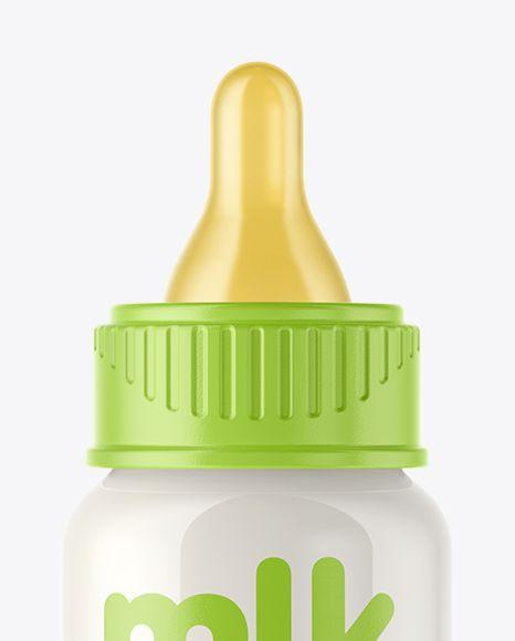 Baby Milk Bottle Mockup  Close-Up