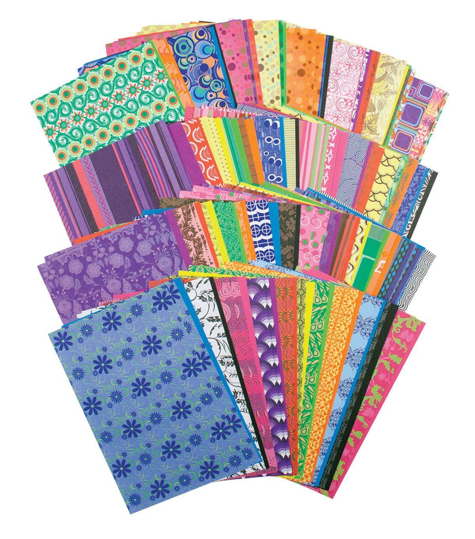 Roylco Decorative Hues Paper 5 5 X 8 5 192 Sheets Per Pack 2 Packs Joann Patterned Paper Pattern Paper Paper Crafts
