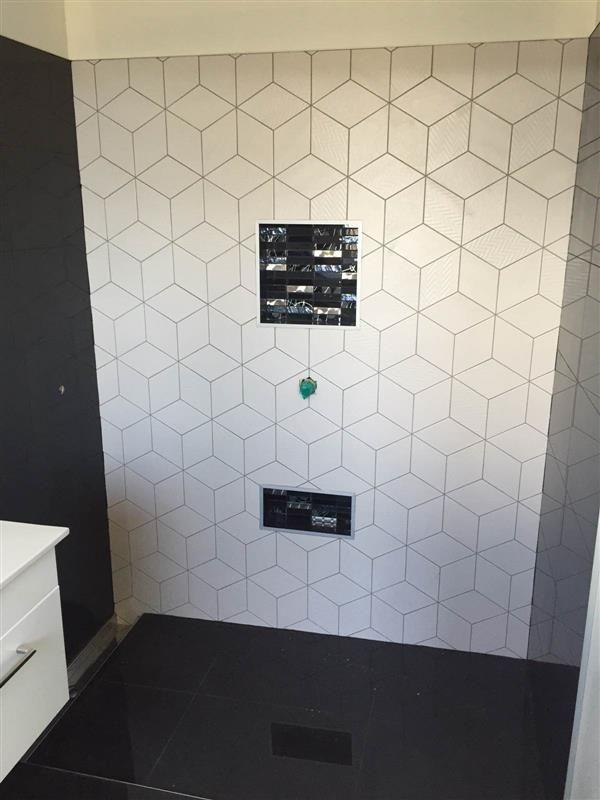 Rhombus tiles google search ba os pinterest ba os - Azulejos hexagonales bano ...