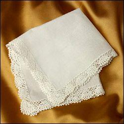 Handkerchief - Crochet Seaside Lace - Ivory