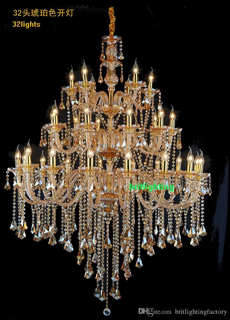 China Modern Golden Crystal Chandelier with Glass Decoration