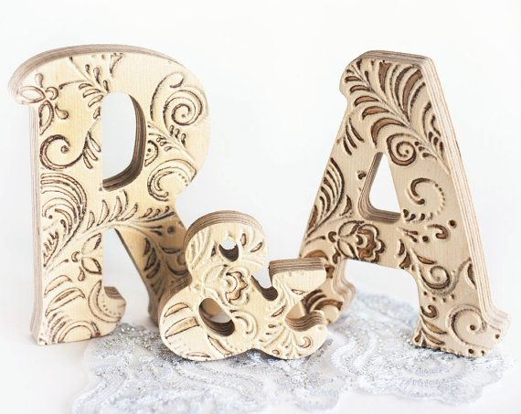 Monograms Family Just Married Wooden Letter Letters By Treesky