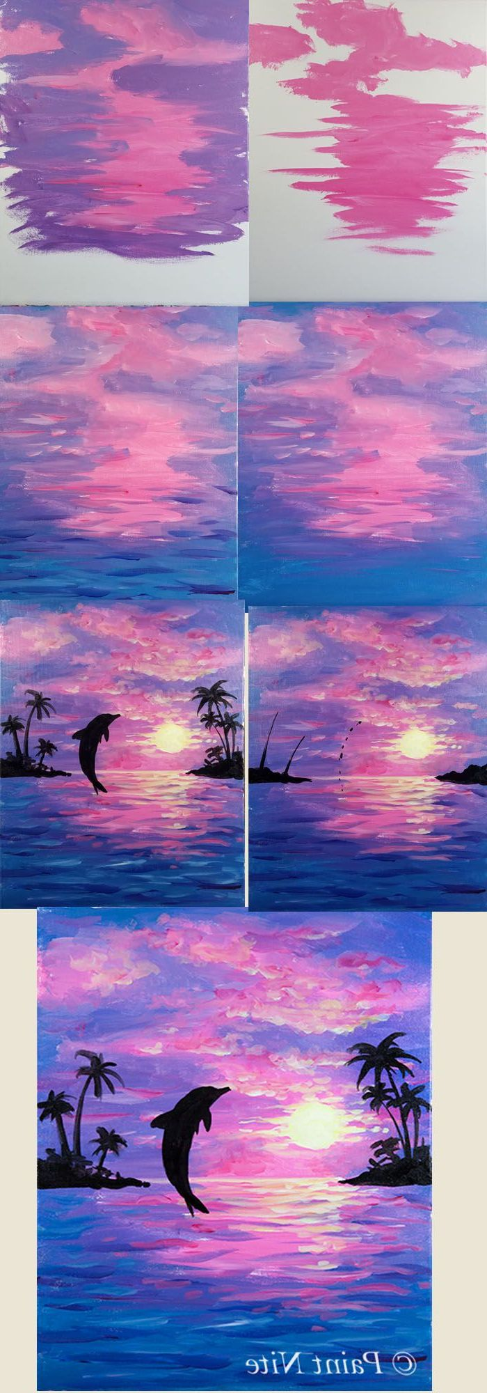 Acrylic Canvas Painting For Kids Step By Step Gorgeous Diy
