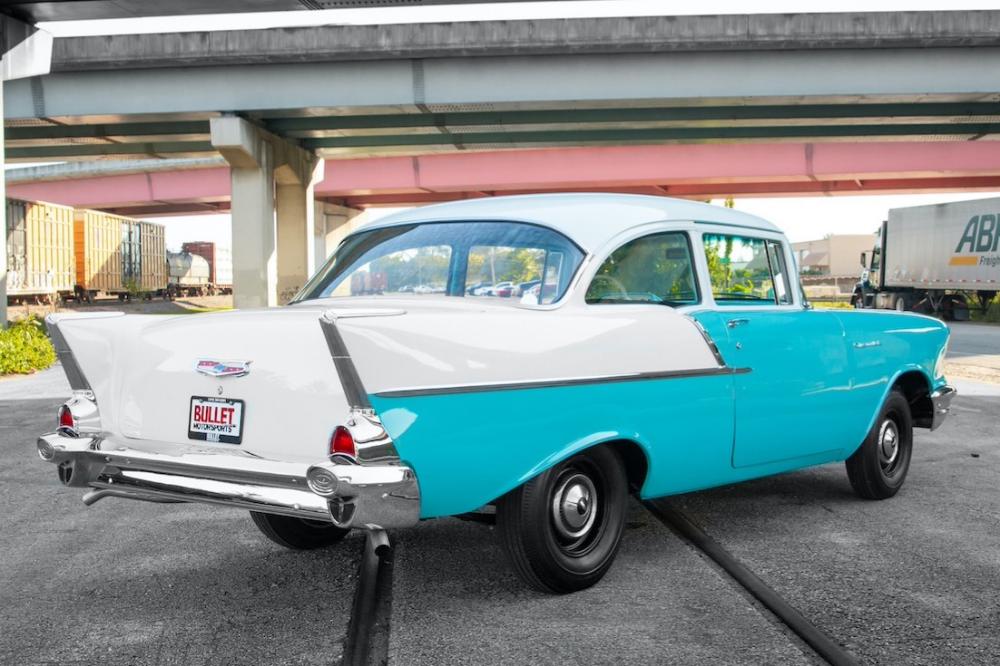 1957 Chevrolet 150 Business Sedan In 2020 1957 Chevrolet Chevrolet Chevy Diesel Trucks