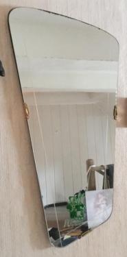 Badspiegel München messing spiegel wandspiegel 50er 60er jahre 50s vintage retro in