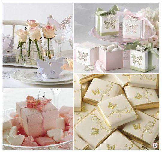 Decoration mariage papillon boite dragees chocolat for Decoration boite carton