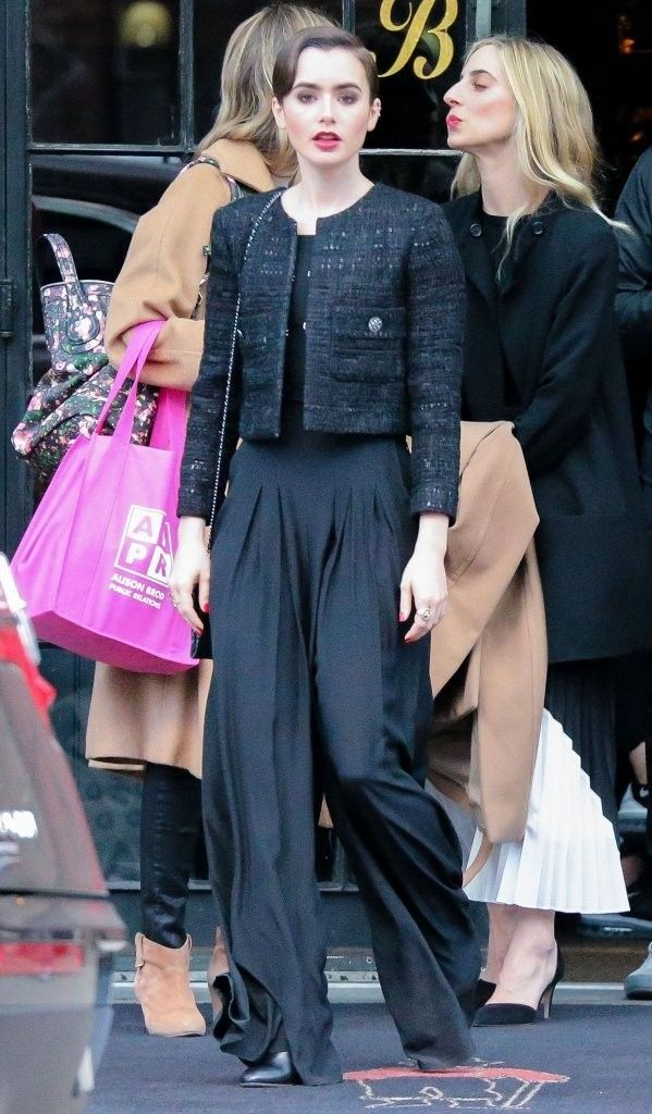 Lily Collins Leaves the Bowery Hotel