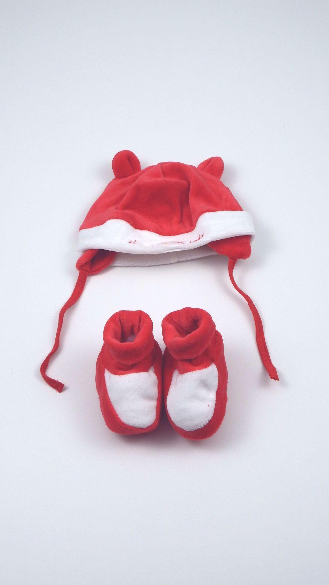 Cuffia e calze neonato Ellepi realizzate in ciniglia di cotone ...