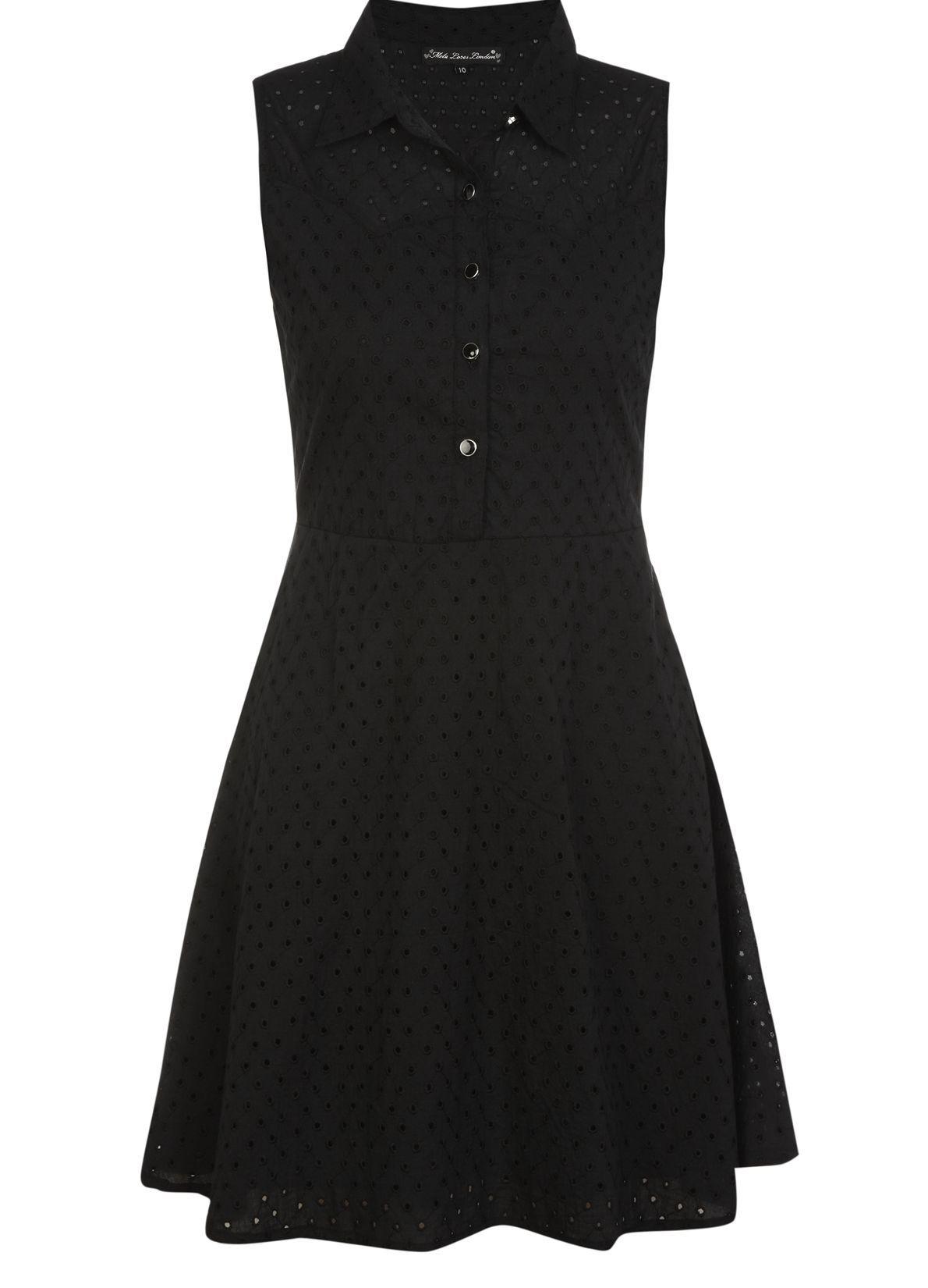 Broderie Anglaise Shirt Dress @Yumi Direct