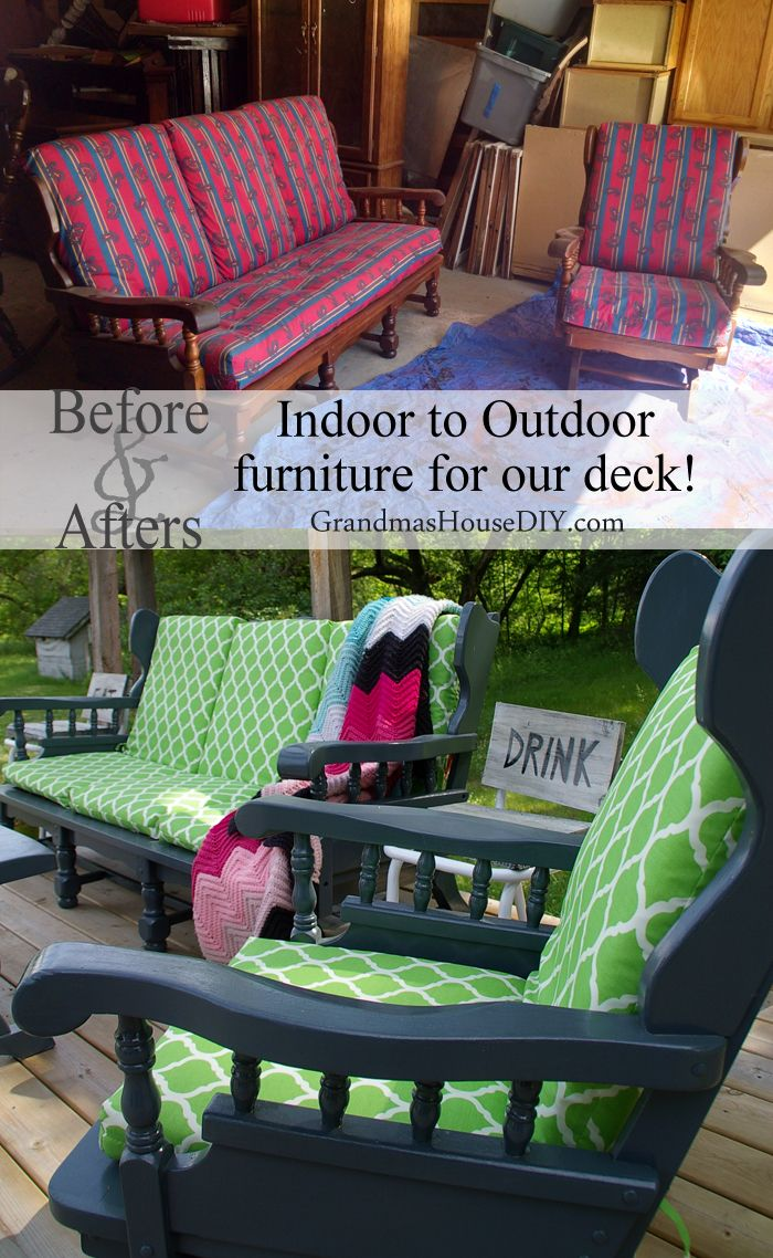 Indoor To Outdoor Furniture I Painted Until My Arm Fell Off Mobilier De Jardin Peint Mobilier Exterieur Diy Mobilier De Salon