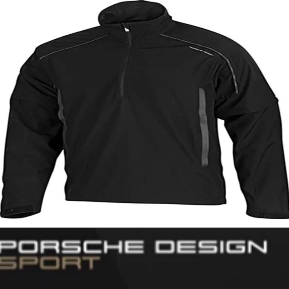 96718916f5a Porsche Design Sport by adidas P 5000 Windbreak Golf Jacket Black P04712 V  Rare