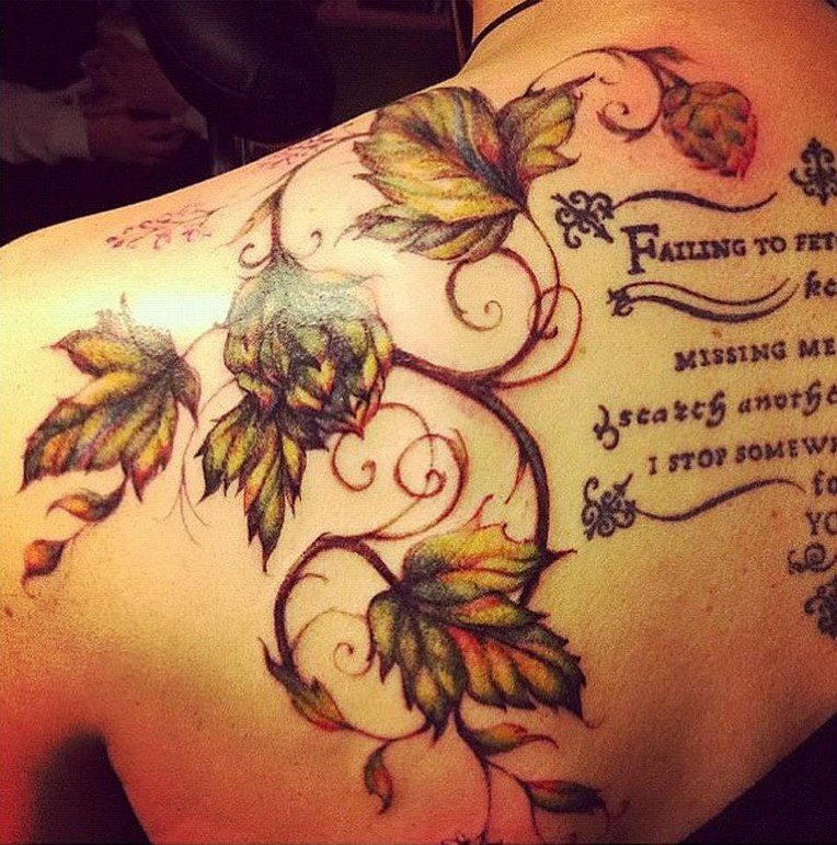 Hops tattoo t a t t o o pinterest hop tattoo tattoo