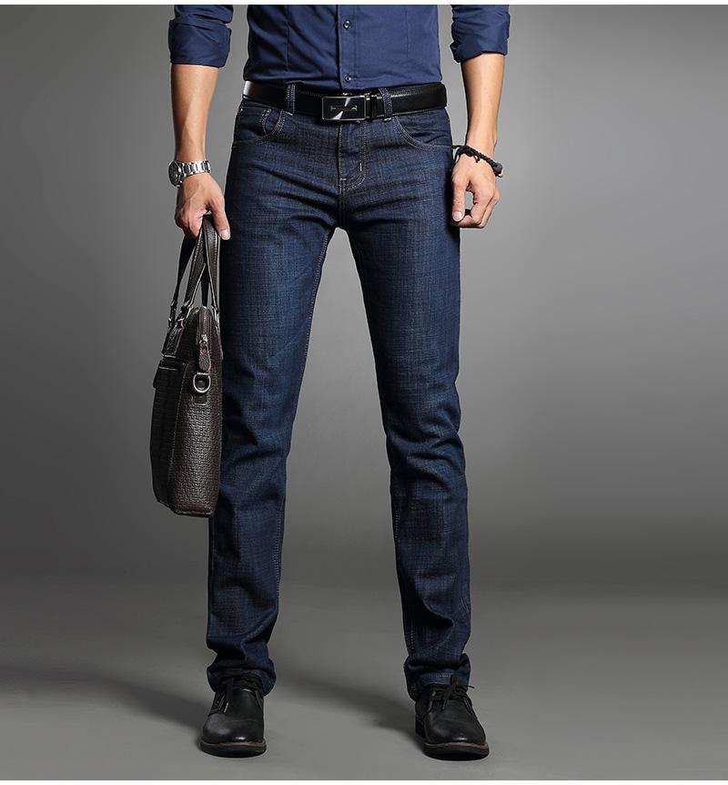 442bf5590ec Men s Straight Slim Fit Business Jeans