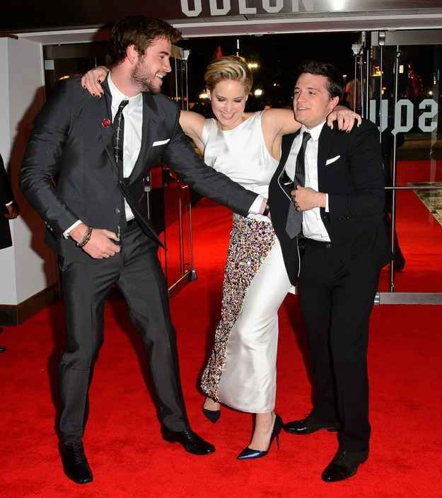 "Adorably Goofy Photos Of The ""Hunger Games"" Cast At The ""Catching Fire"" U.K. Premiere"