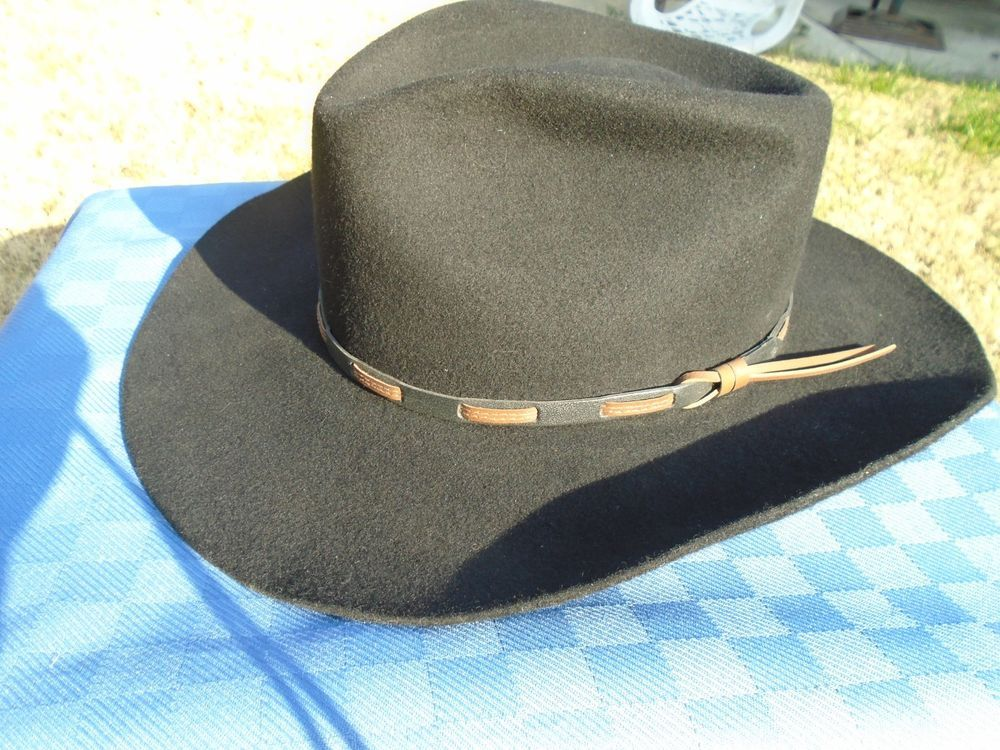 Stallion By Stetson 7 3 8 Pure Wool Cowboy Hat Very Little Wear If Any It Was Dusty Other Than Brushing It Off Great Condition I Cowboy Hats Cowboy Hat Sizes