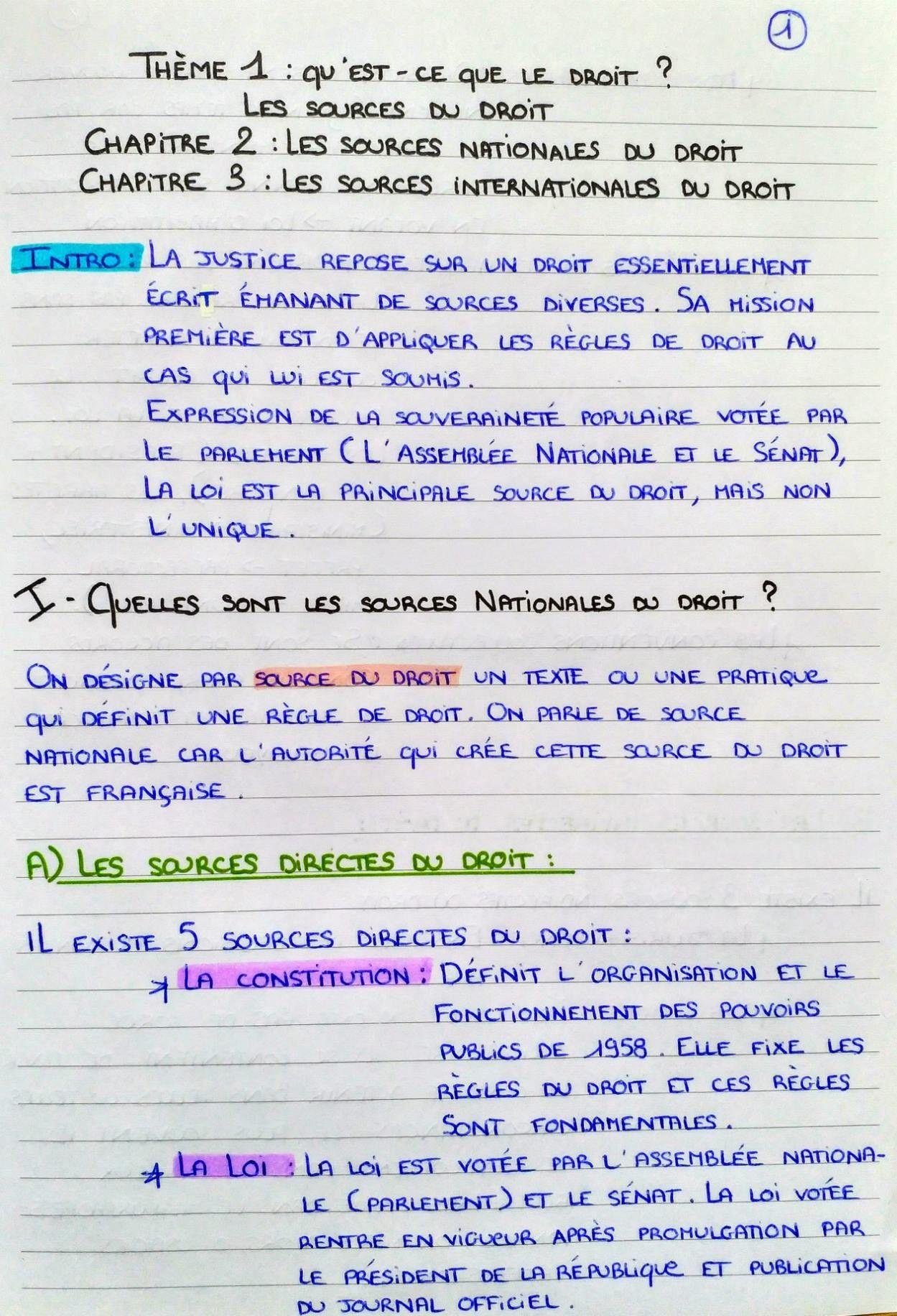 Page 1 3 Cours De Droit Cours Droit Fac De Droit