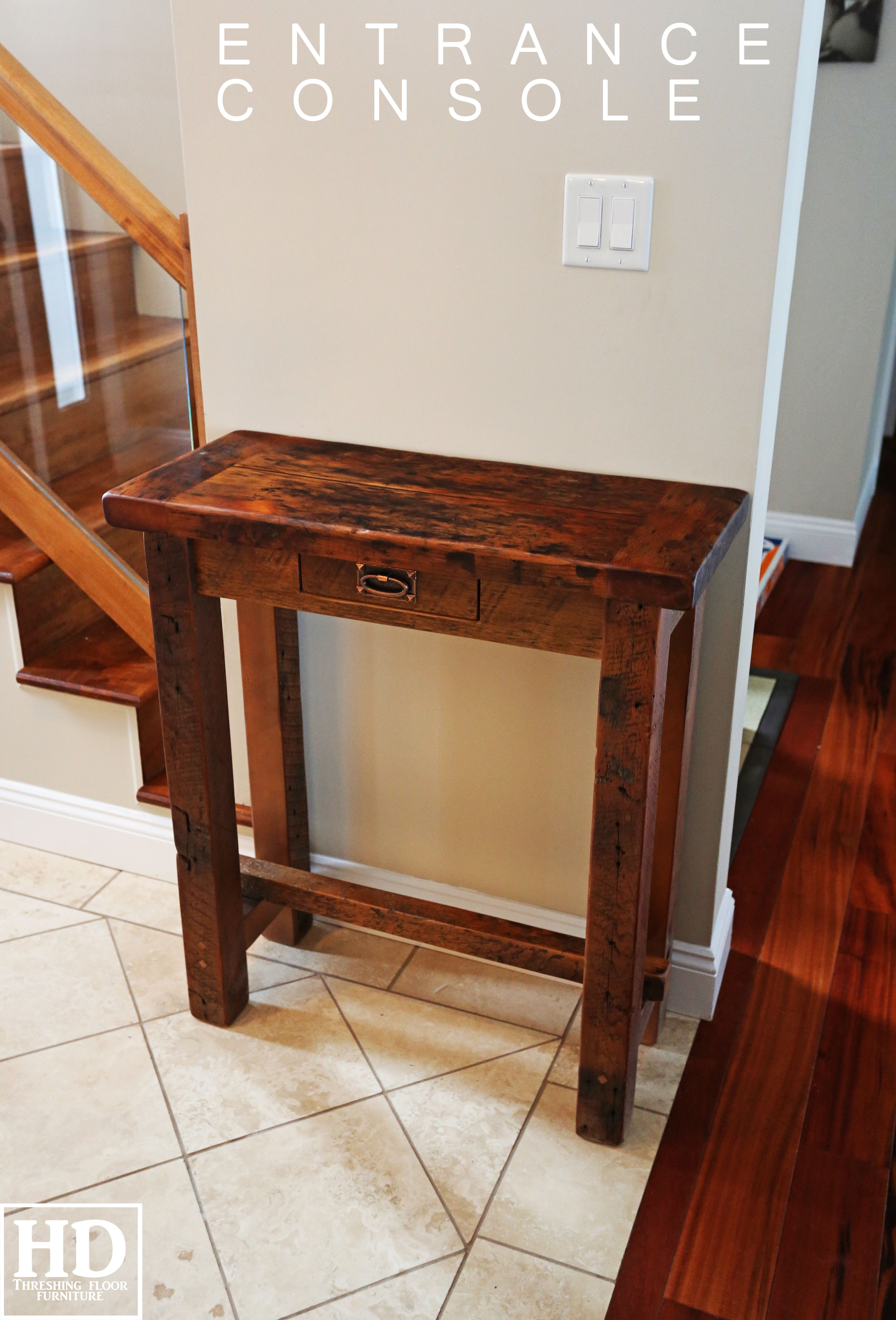 Cambridge Ontario Reclaimed Wood Console Hall Table By Hd