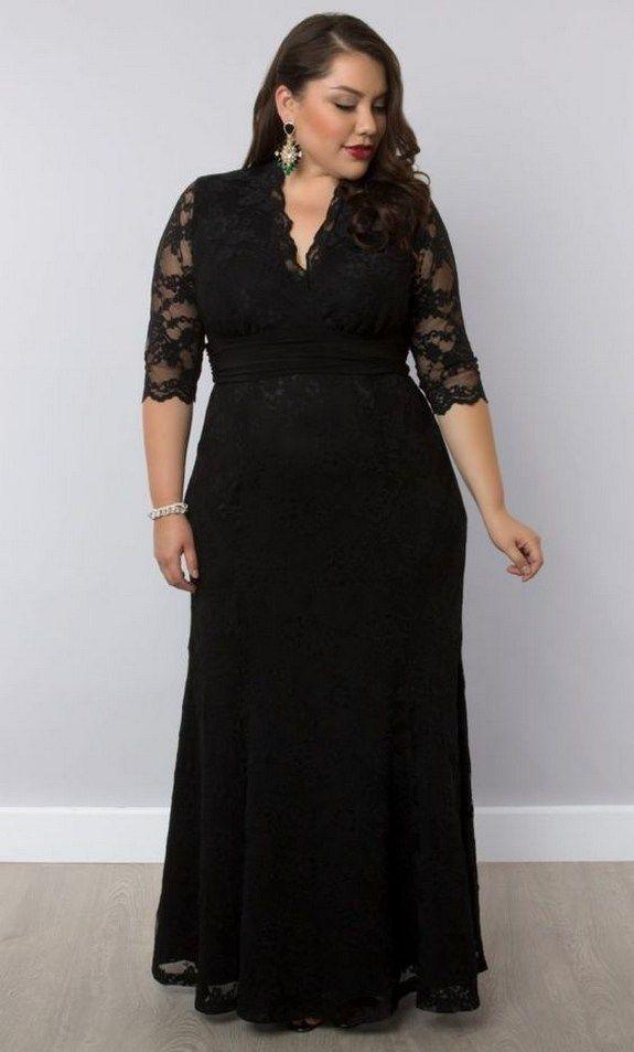 37++ Plus size black gown ideas info