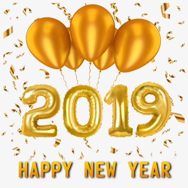 New Year 2019 Png And Psd Gold Happy New Year New Png Transparent Clipart Image And Psd File For Free Download Happy New Year Png Happy New Year Happy New Year 2019