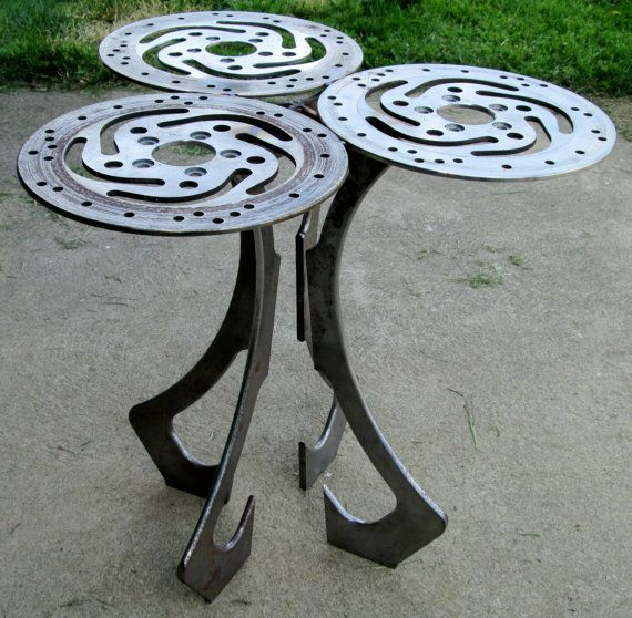 Recycled Harley Motorcycle Part Art End Table Furniture