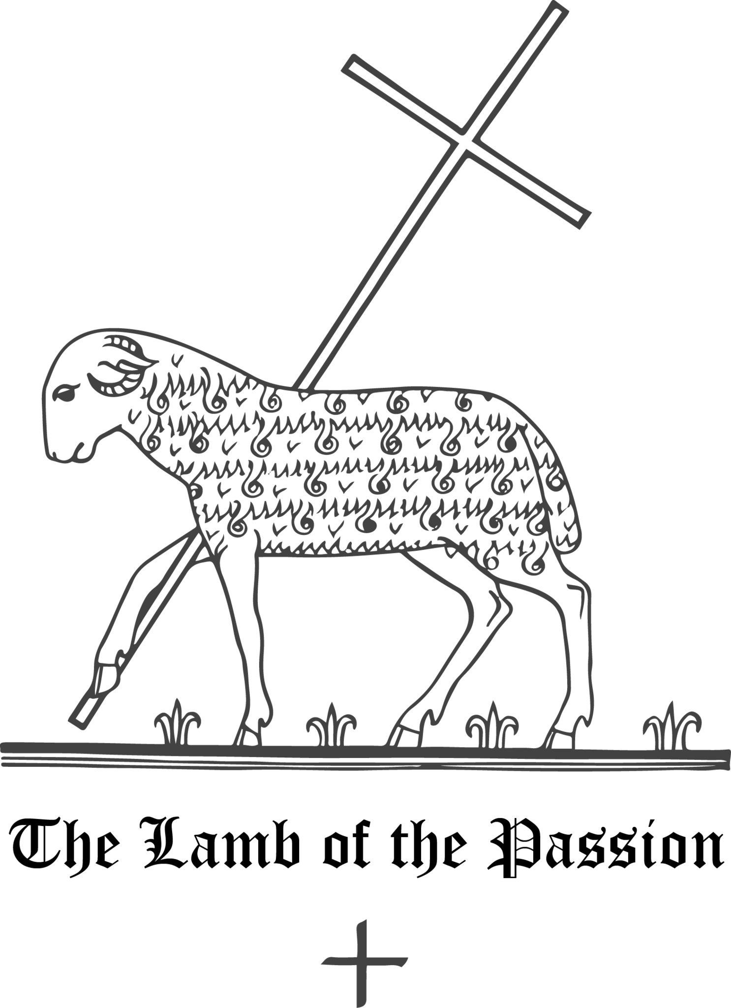 Rudolf Koch Christian Symbol 137 The Lamb Of The Passion