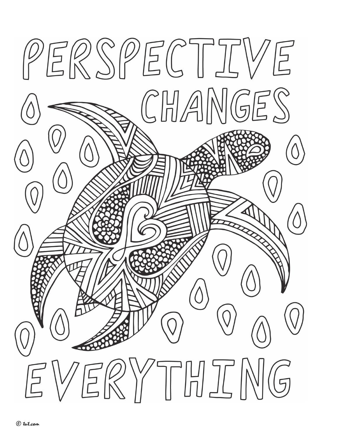 Perspective Changes Everything Notes From The Universe Colouring Book By Mike Dooley Quote