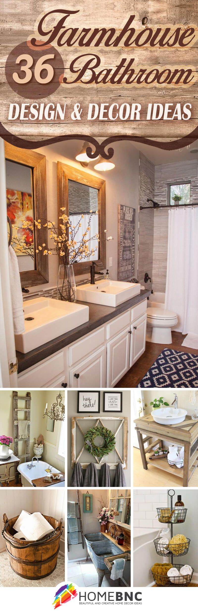 36 beautiful farmhouse bathroom design and decor ideas you. Black Bedroom Furniture Sets. Home Design Ideas